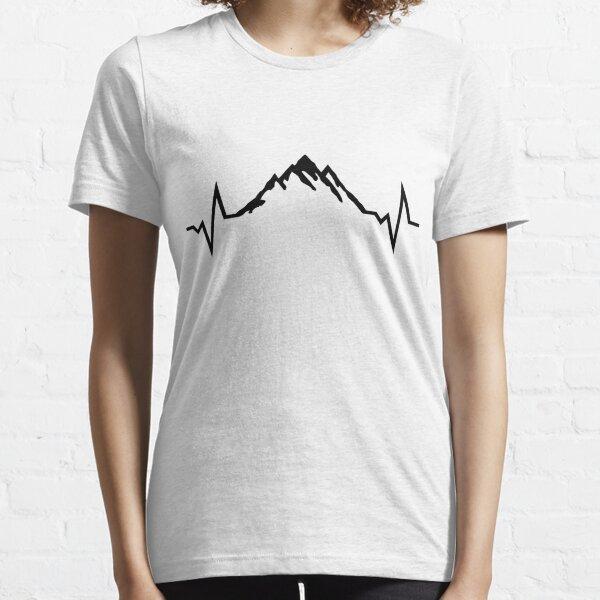 Mountain Heartbeat, Mountains Essential T-Shirt
