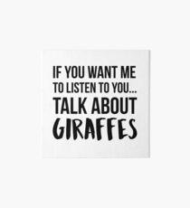 Talk About Giraffes Art Board