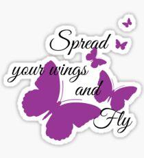 Verbreite deine Flügel und fliege Sticker