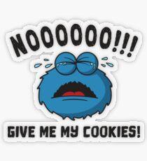GDPR No More Cookies Monster - Funny GDPR Gift Transparenter Sticker