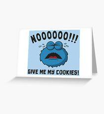 GDPR No More Cookies Monster - Funny GDPR Gift Grußkarte