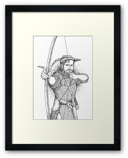 Robin Hood, The Legend: Sketch by reynoldjay
