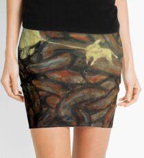 Untitled, encaustic on board Mini Skirt