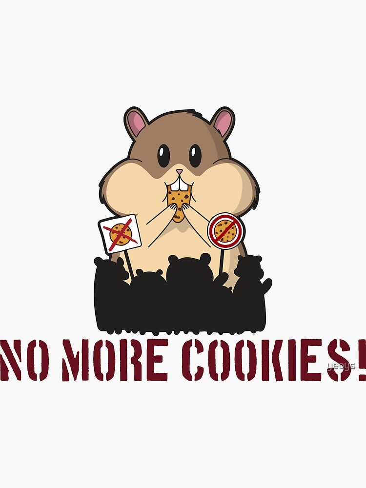 GPDR No More Cookies Hamster - Funny GDPR Gift von yeoys
