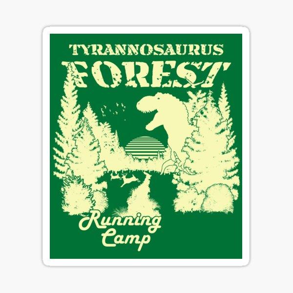 Tyrannosaurus Forest Running Camp Sticker
