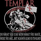 Knights Templar T-shirt Crusader Warrior Glory  by MYCUPOFT