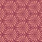 Magenta Chains 2 Digital Pattern Design by Guinevere Saunders