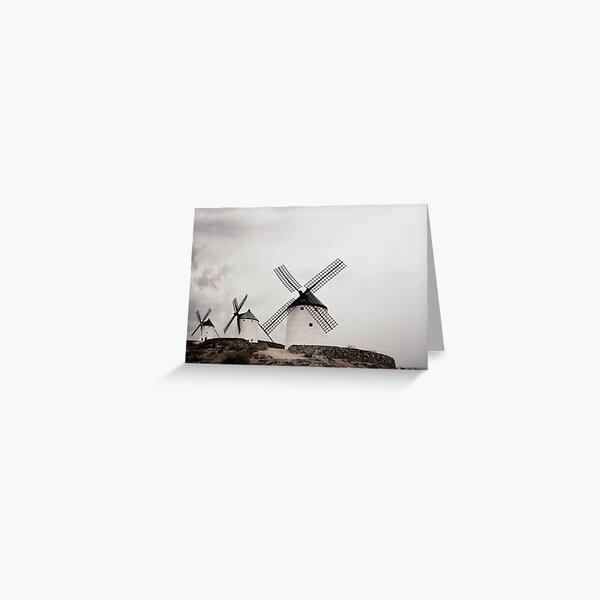 Don Quixote Windmills of Spain  Greeting Card