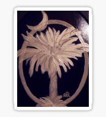 SC Palmetto and Crescent on Wood Sticker