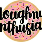 Doughnut Enthusiast Script - Pink-Frosted Doughnut by Ashley Wijangco