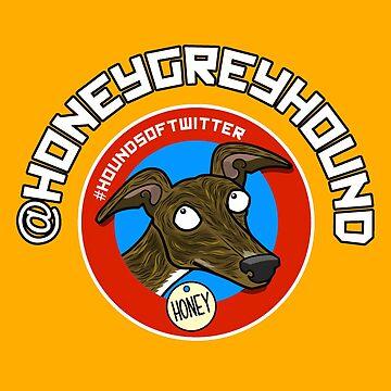 HoneyGreyhound (sticker) by jameshardy
