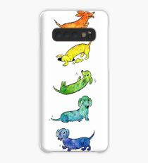Watercolor Dachshunds Case/Skin for Samsung Galaxy