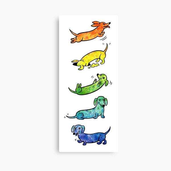 Watercolor Dachshunds Canvas Print