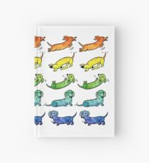 Watercolor Dachshunds Hardcover Journal