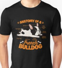 Anatomy Of A French Bulldog Funny Pet Frenchie Dog Unisex T-Shirt