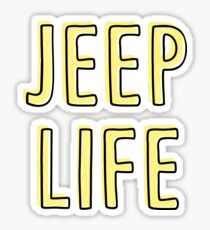 Jeep Life (yellow) Sticker