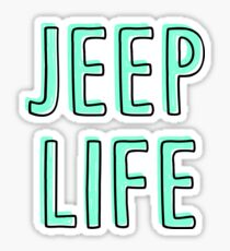 Jeep Life (mint) Sticker