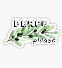 Peace please Sticker