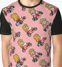 Princess Peach  /  Super Mario Kart  /  Pink Graphic T-Shirt