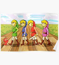 Póster cuatro espadas cruzando