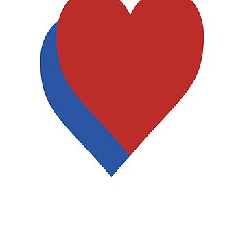 RED & BLUE HEART by tolsoe