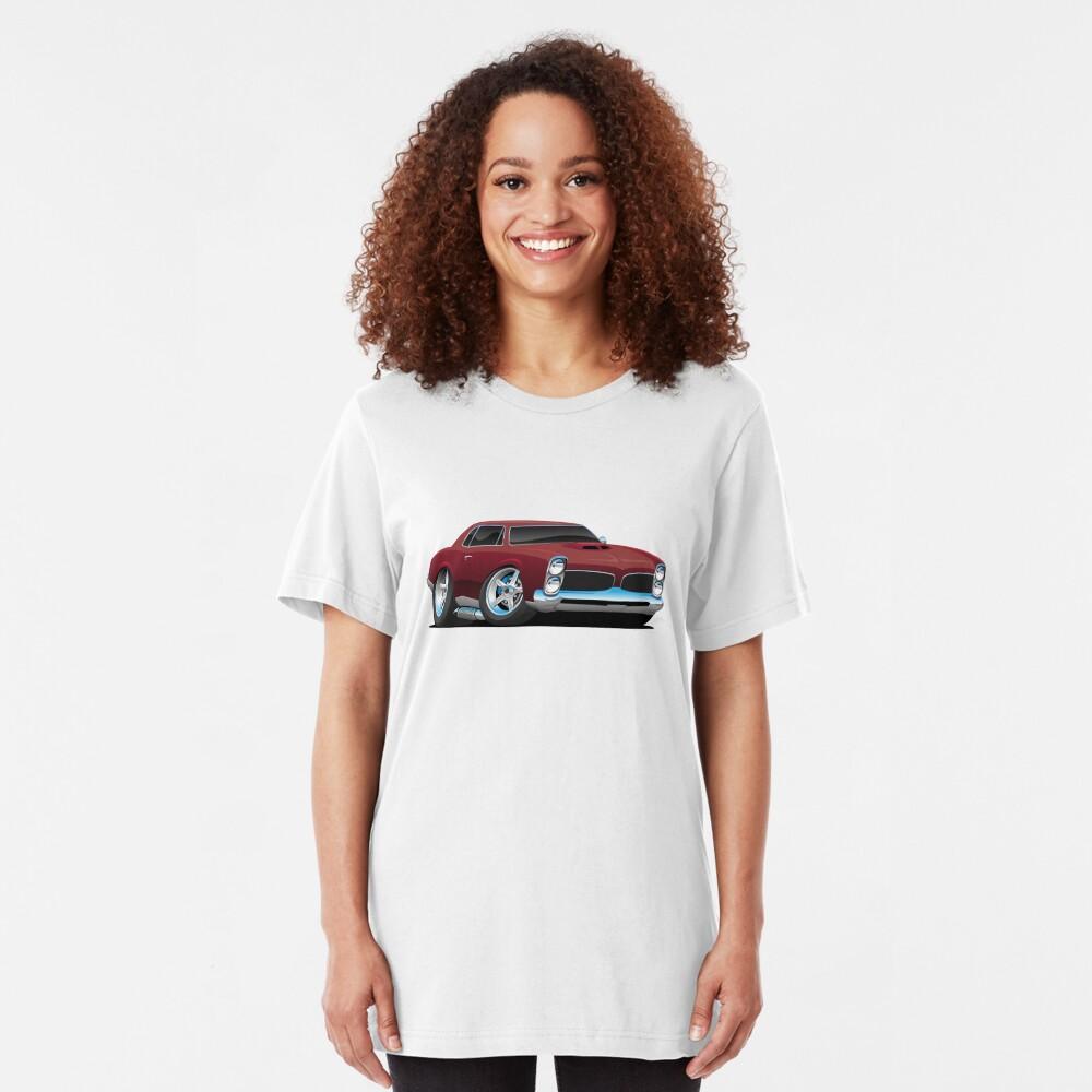 Classic American Muscle Car Cartoon Slim Fit T-Shirt