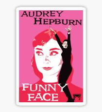 Audrey Hepburn in Funny Face Sticker