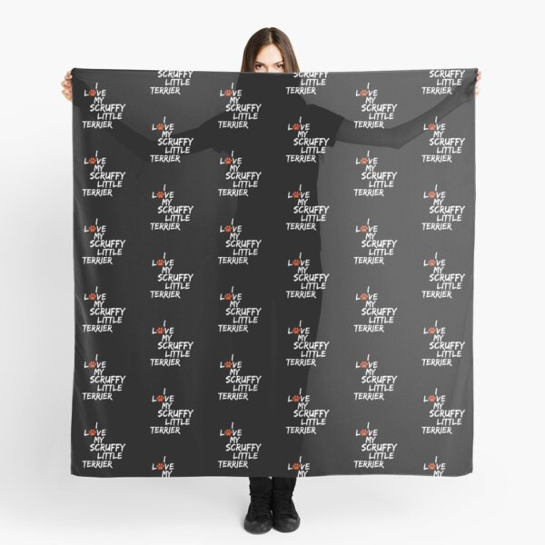 I Love My Scruffy Little Terrier Dog Slogan Gifts for Dog Lovers Scarf