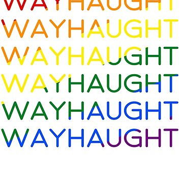 Wayhaught | LGBT flag colors by DamnSanvers