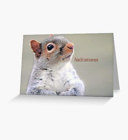 Oliver Twist Squirrel Greeting Card