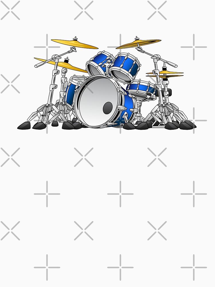 5 Piece Drum Set Cartoon by hobrath