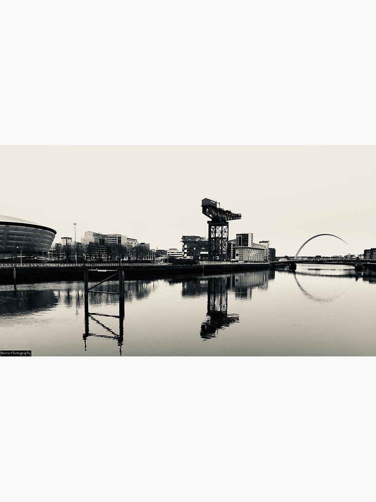 Black and White Glasgow Reflections by berriephotos