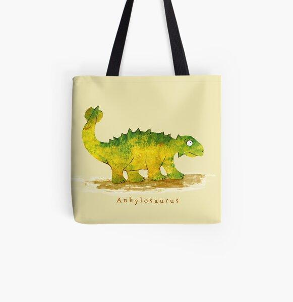 Ankylosaurus Allover-Print Tote Bag