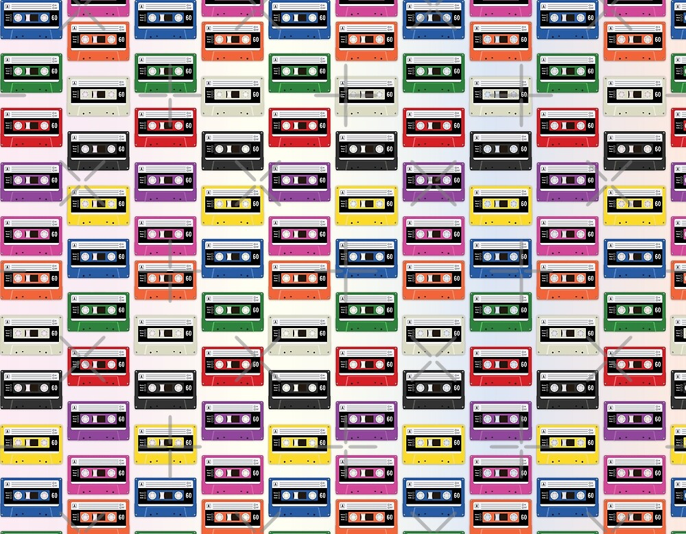 Cassettes In a Row by LozMac