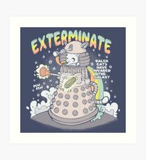 Dalek Cat Art Print