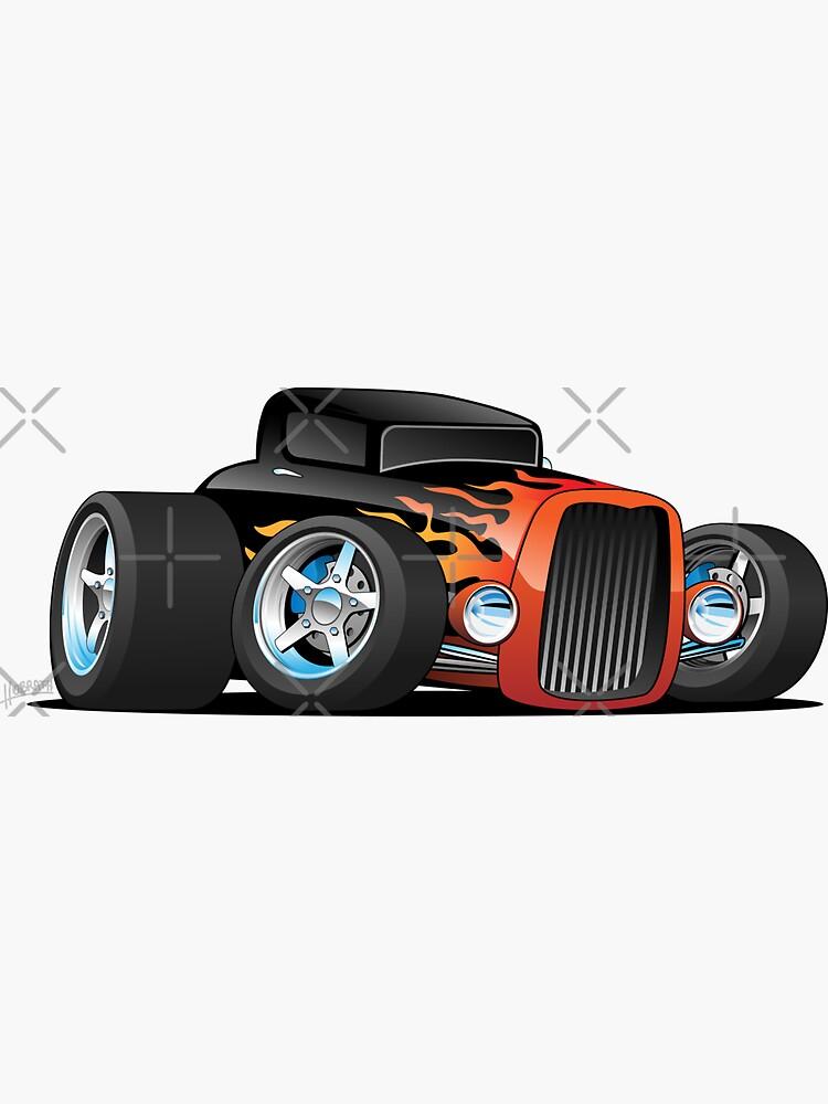 Hot Rod Classic Coupe Custom Car Cartoon by hobrath