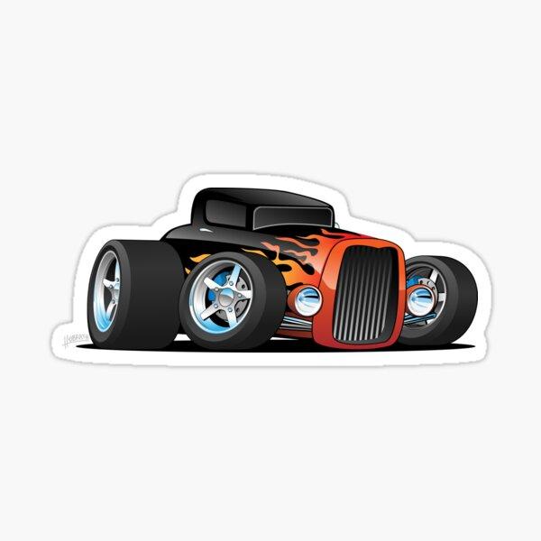 Hot Rod Classic Coupe Custom Car Cartoon Sticker