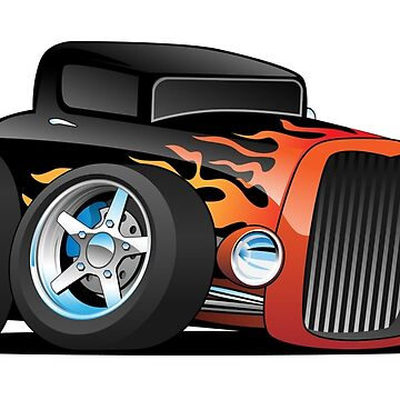 Hot Rod Classic Coupe Custom Car Cartoon by hobrath