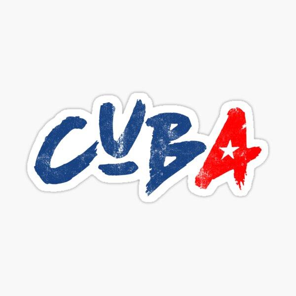 CUBA HANDWRITTEN VINTAGE, BY SUBGIRL Sticker