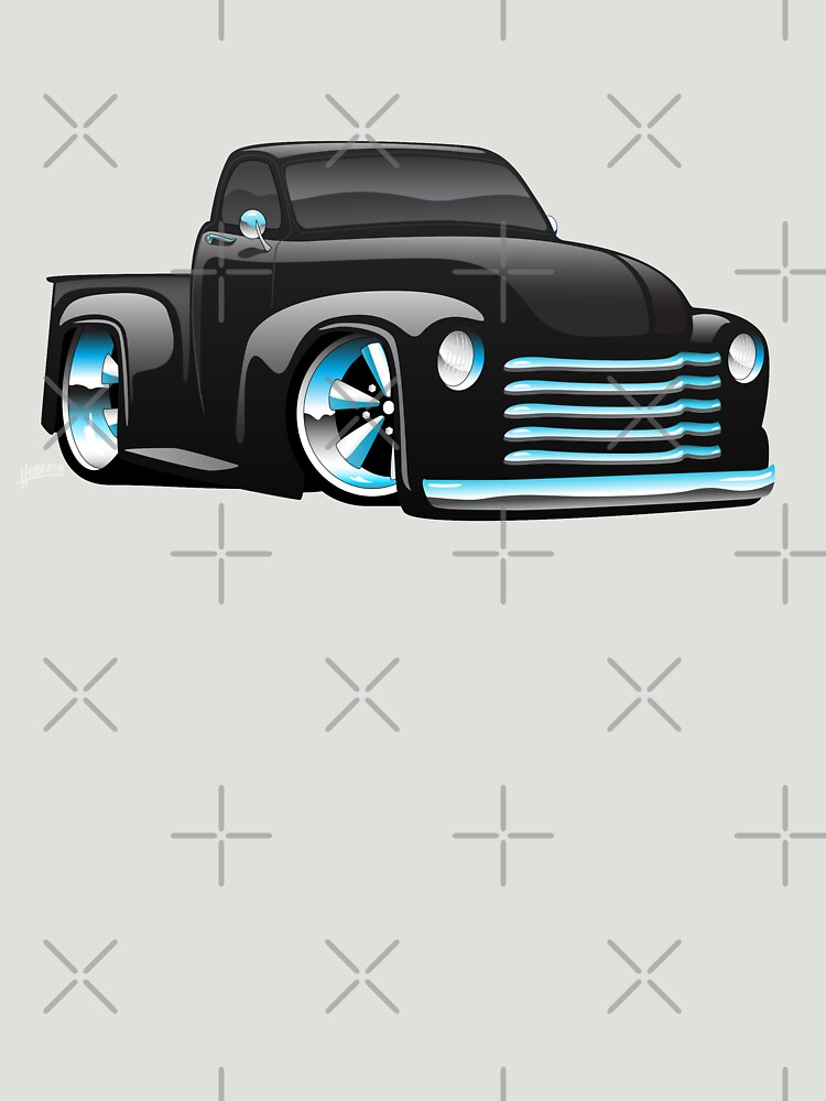 Hot Rod Pickup Truck Cartoon by hobrath