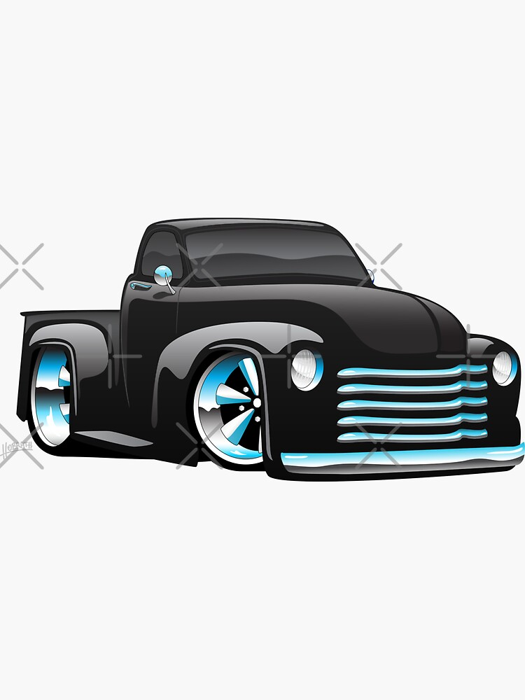 Hot Rod Pickup Truck Cartoon by hobrath