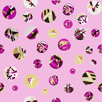 pink cut out dots by arrpdesign