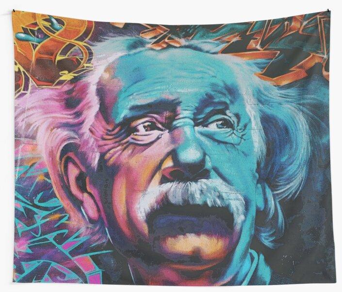 Albert Einstein | Grafitti Art by CarlosV