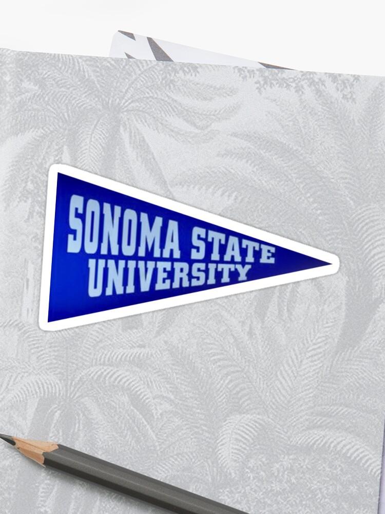 Sonoma State University Pennant Sticker | Sticker