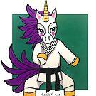 Green Karat-icorn (Karate Unicorn): Animals of Inspiration by mellierosetest
