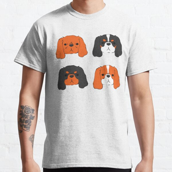 Cavalier King Charles Spaniel - Blenheim, Tri, Ruby, and Black and Tan Classic T-Shirt