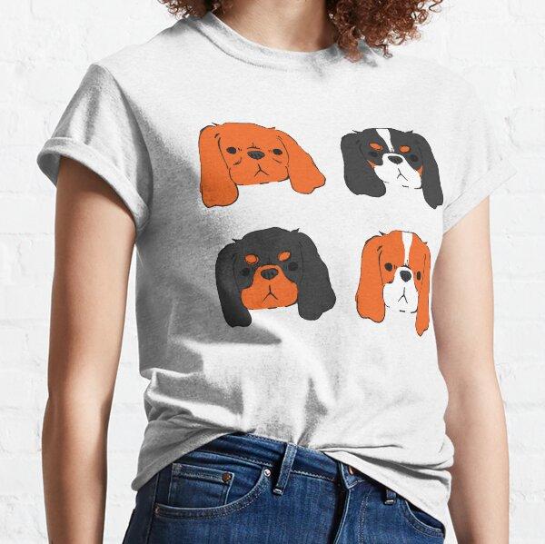 Cavalier King Charles Spaniel - Blenheim, Tri, Ruby, and Black and Tan Classic T-Shirt