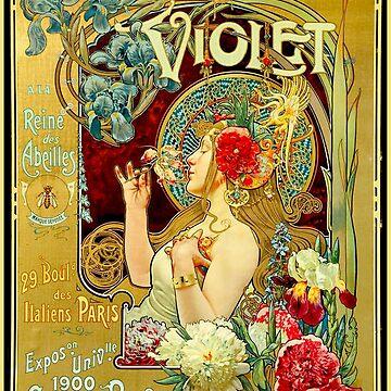 VIOLET : Vintage 1900 Parfumerie Advertising Print  by posterbobs