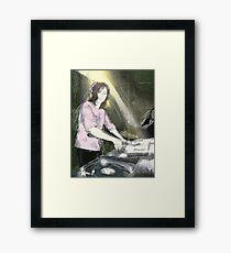 Lady DJ Framed Print