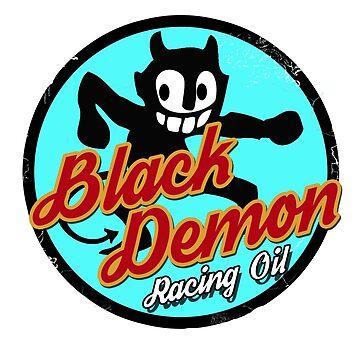 Black Demon Racing Oil Hot Rod Sticker by INFIDEL